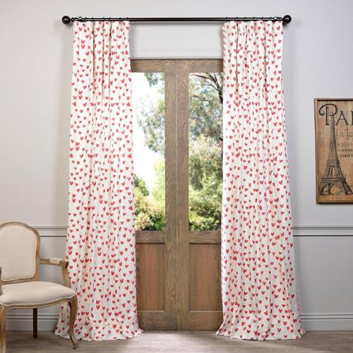 "EFF Sweethearts Printed Cotton Curtain Sweethearts  120""L"