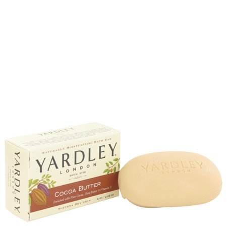 Yardley London Cocoa Butter Naturally Moisturizing Bath Bar, 4.25 Oz