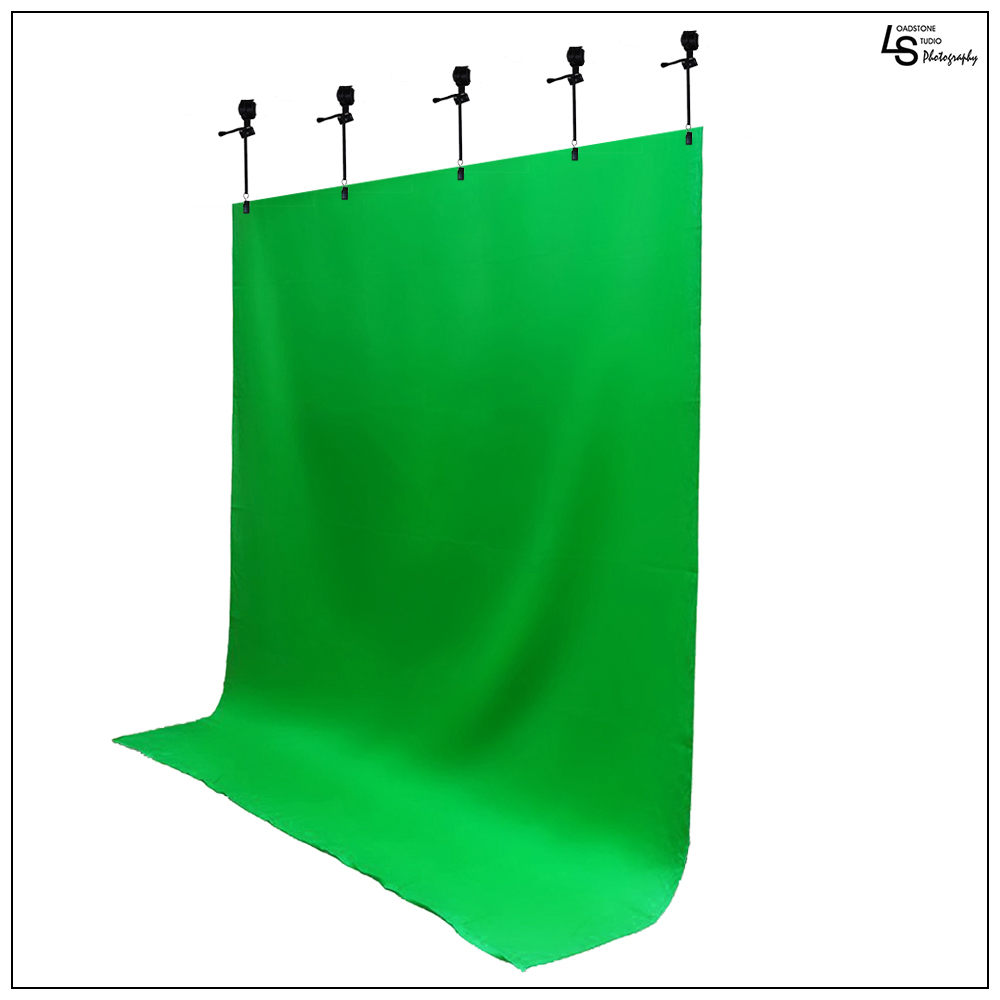5'x 10' Foot Chromakey Green Screen Seamless Muslin Fabric Cloth Backdrop for Photography and Video by Loadstone Studio WMLS0410