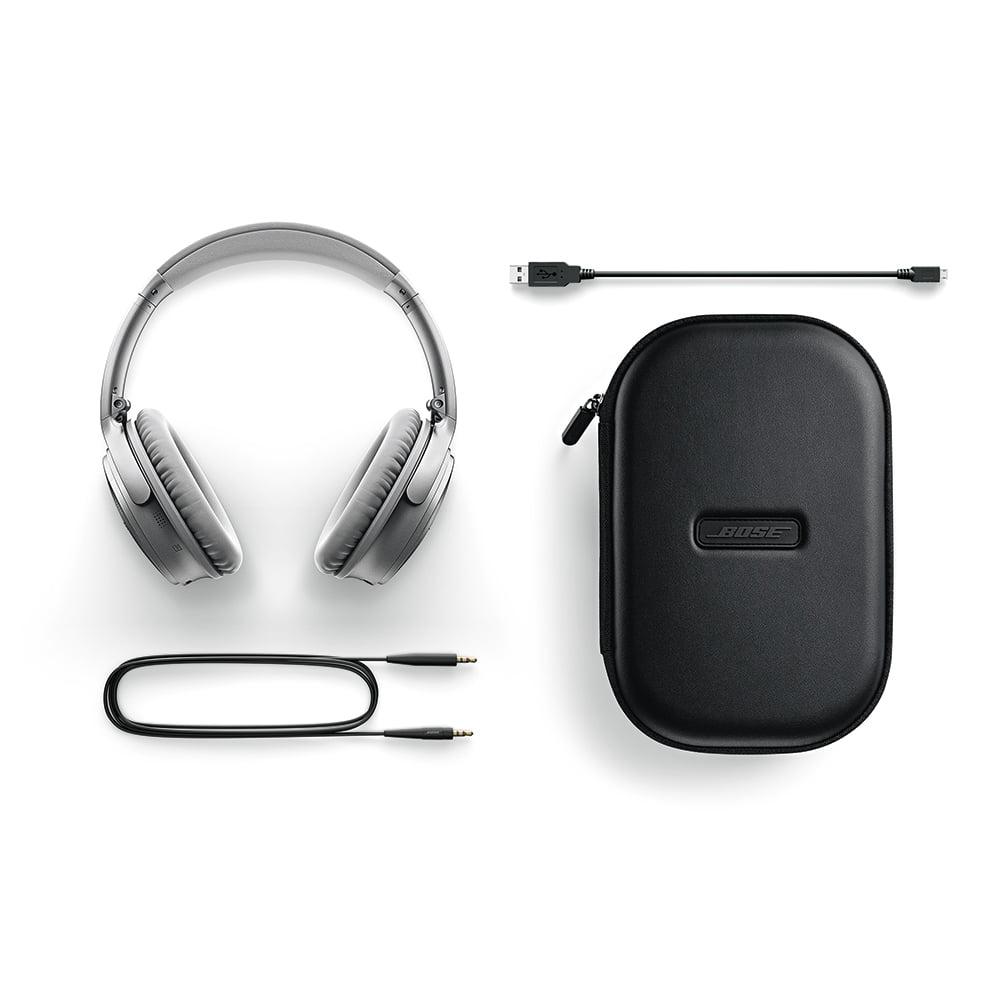 Bose QuietComfort 35 Wireless Headphones, Noise Cancelling - Silver ...