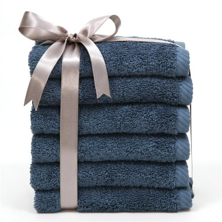 Luxury Hotel & Spa 100% Turkish Cotton Soft Twist Washcloths - Set of 6