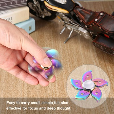 Colorful Bauhinia Flower Finger Spinner Toy Hand Spinner Toys Anti Stress