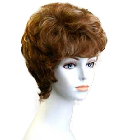 Fashion women short straight E ESTER 27H613 professional wig Black](Old Lady Wig)