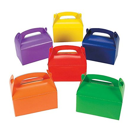 Bright Color Treat Boxes (12 pack) 6 1/4