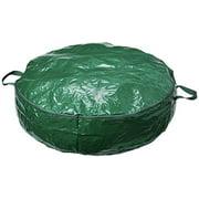 Homz 30 Inch Diameter Seasonal Holiday Christmas Wreath Poly Fabric Storage Bag
