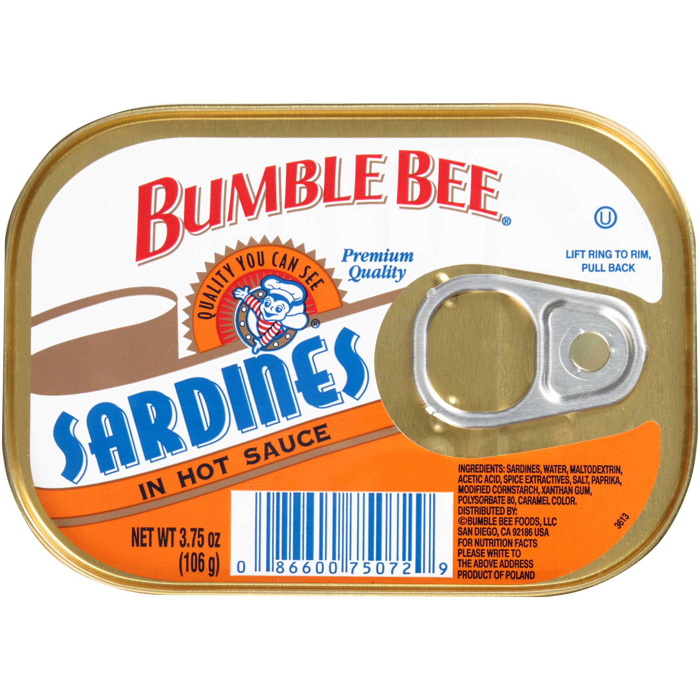 Bumble Bee Sardines in Hot Sauce, 3.75 oz by Bumble Bee Foods, LLC