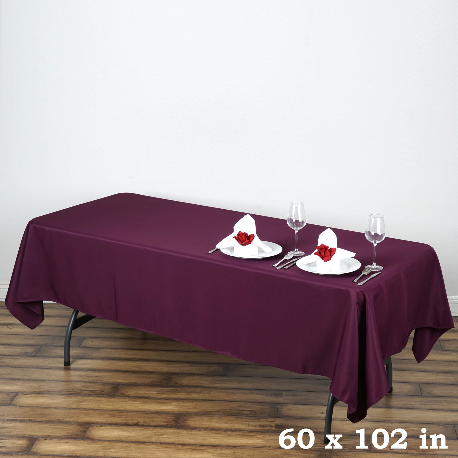 "BalsaCircle 60x102"" Polyester RECTANGULAR Tablecloth Wedding Linens"