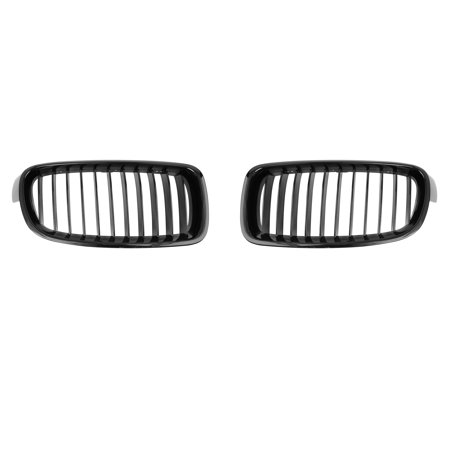 2pcs Glossy Black Front Hood Kidney Grille Grill for 12-16 BMW