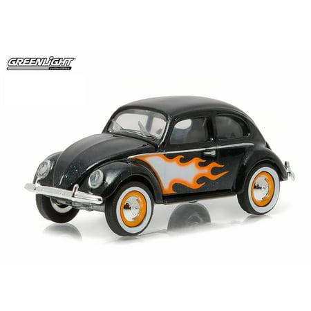 Greenlight 1 64 Club V Dub 3 1949 Vw Type 1 Split Window Beetle Black W  Flames