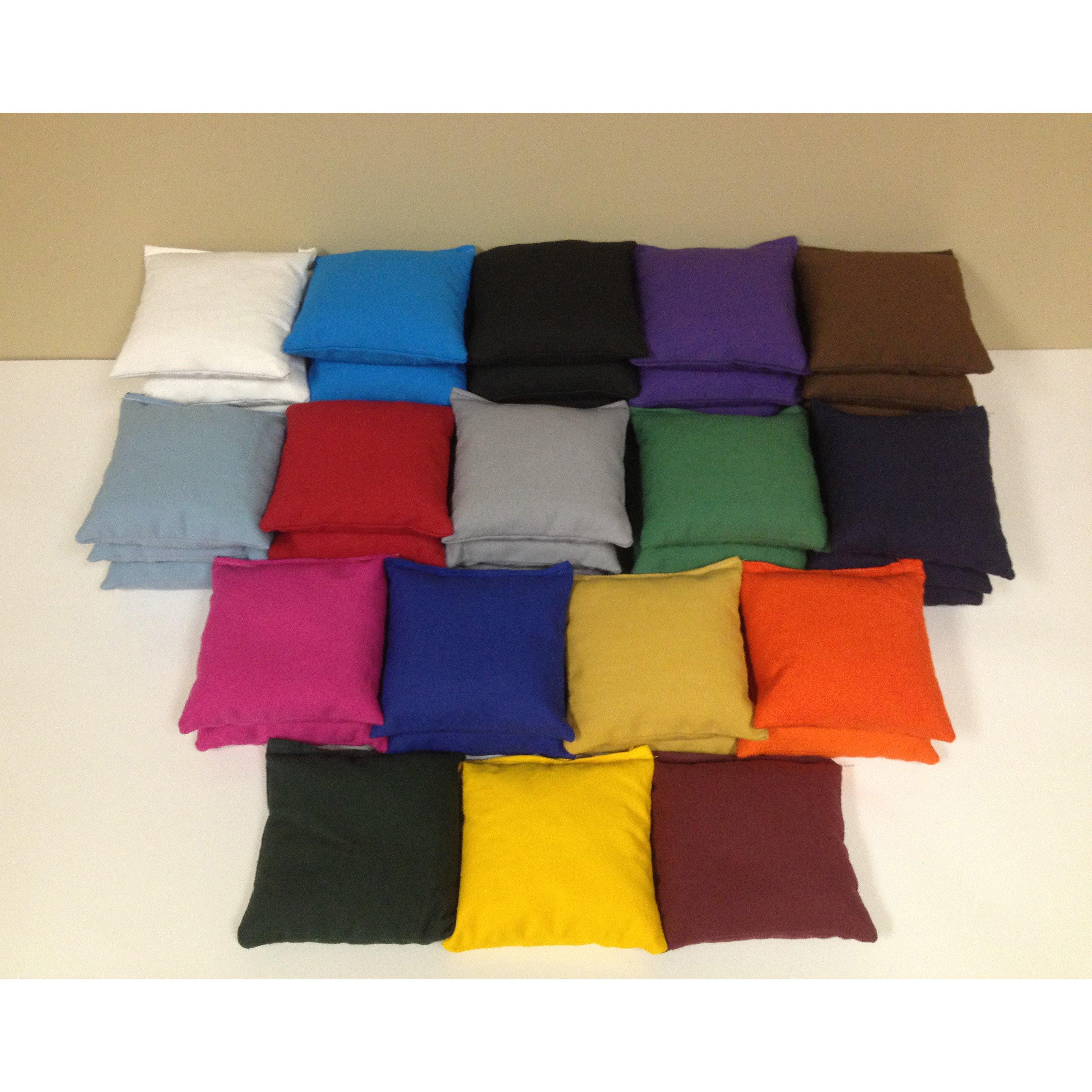 Cornhole Bags - Set of 8 - Grey - Royal Blue