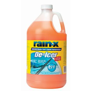 Rain-X RX68106 Windshield Washer Fluid Rain-X (R) With De Icer and Rain Repellant Additives; Effective To - 25 Degrees Fahrenheit; Orange; One Gallon Jug - image 1 of 1