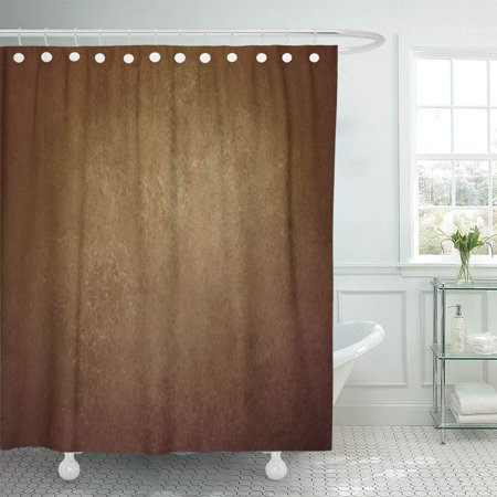 Black And Gold Border (KSADK Warm Gold Brown Black Vignette Border and Light Center Abstract Vintage Earthy Bathroom Shower Curtain 60x72)