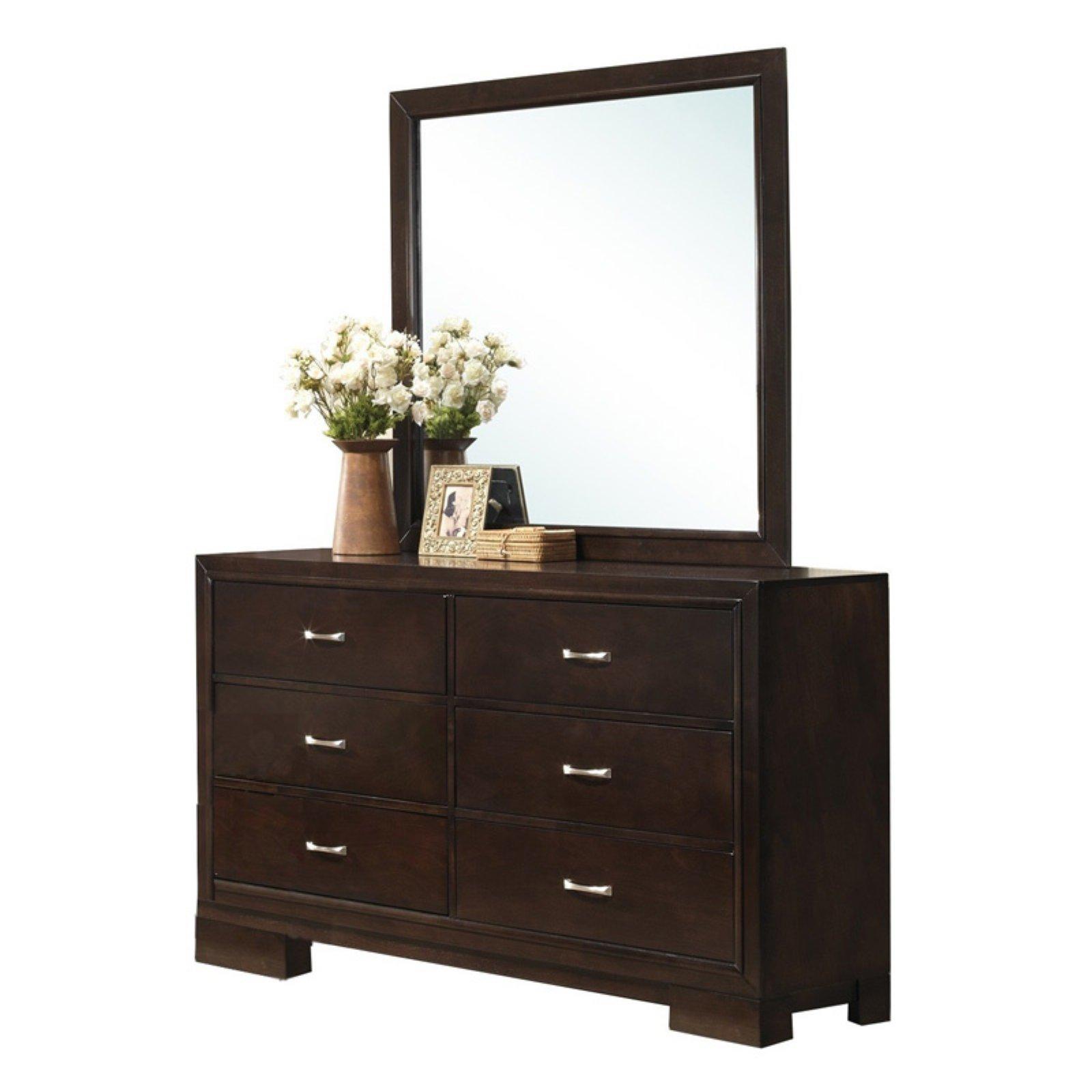 Roundhill Furniture Montana 6 Drawer Dresser