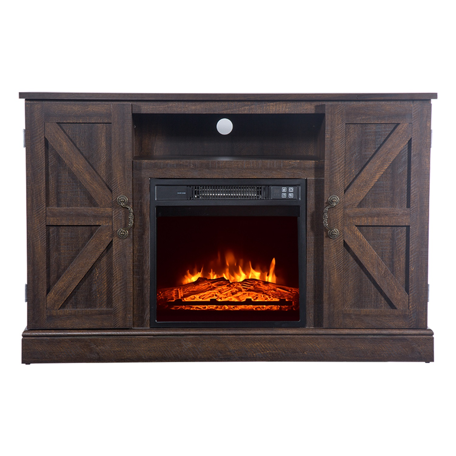 """47"""" Wood Fireplace Stand with Cabinet Doors and Drawers ..."""