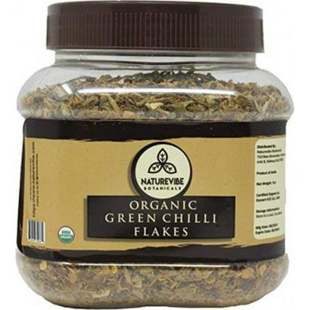 Naturevibe Botanicals Organic Green Chilli Flakes 8 oz
