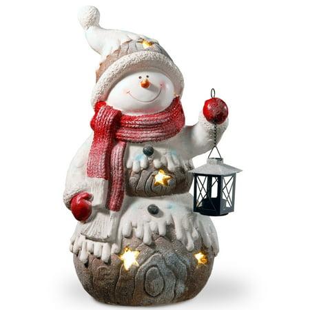 21  Lighted Snowman Dcor Piece