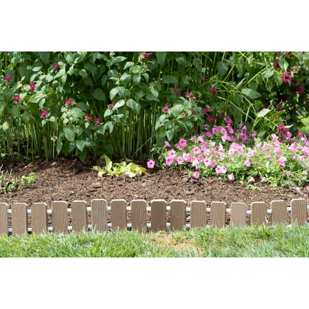 Furniture Barn USA™ Garden Edging - Evergrain® Composite No Dig Roll Up Flower Bed Edges ()