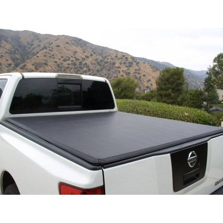 Tonnomax 2004-2014 Chevrolet Colorado GMC Canyon Std Ext Cab 6ft Bed Soft Trifold Tonneau Cover Premium Leather Vinyl Clamp Lock Black TC13TCB060