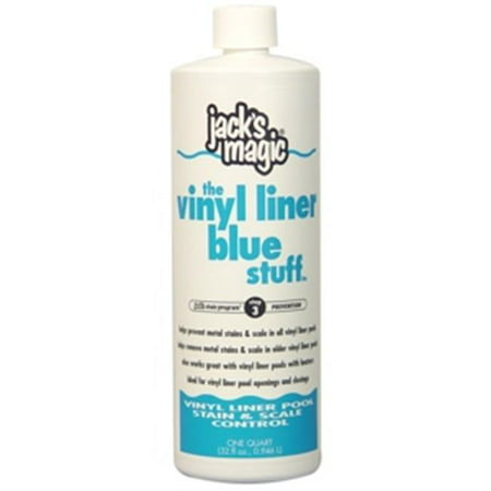 Jacks Magic JMBLUEVINYL032 Vinyl Liner Blue Stuff - Stain & Scale Control, 32 (Vinyl Pool Stains)