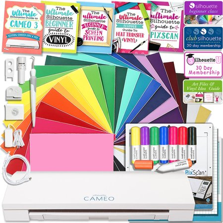 Hematite Cameo - Silhouette Cameo 3 Bluetooth Educational Bundle Oracal Vinyl, Guides, Class, Membership and More