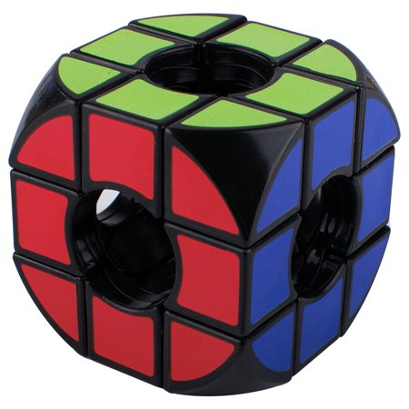 Void Speed Magic Rubik Cube, 3x3x3 Black Base Development Intelligence Puzzle Cube Speed Smooth Sticker Cube Hollow Twist Puzzle Cube, Brain Teaser Toys & Christmas Birthday Gifts