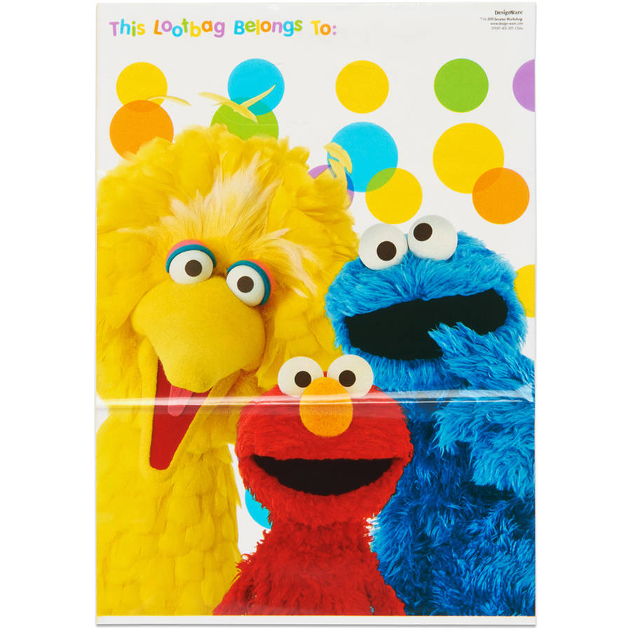 Elmo Treat Bags, 8 Count, Party Supplies