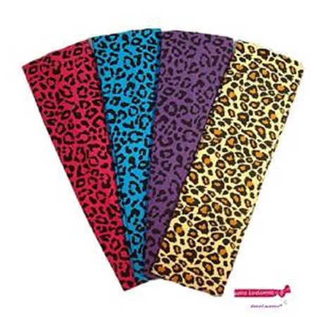 Kenz Laurenz Cotton Headbands 4 Soft Stretch Headband Sweat Absorbent Elastic Head Bands Cheetah Set (Workout Headbands Nike)