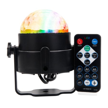 Ktaxon Party DJ Ball Projector Light ,3w Led Strobe Lamp with Remote Control ,7 Color Sound Activated Stage Disco Lighting Effect Show Wedding bulb - Color Change Toy Lights