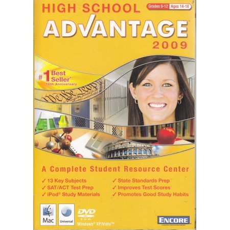 High School Advantage 2009 - Supplements Classroom Learning - 890+ Lessons, 2,665 Exercises, ACT /  SAT Test Prep, +MORE