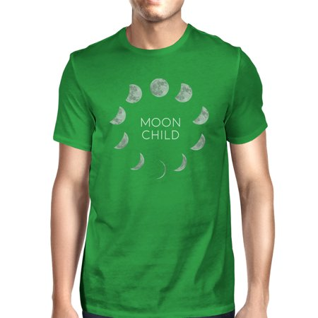 Moon Child T Shirt Cotton Green Funny Halloween Tee Shirt For Men