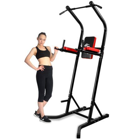 Ainfox Adjustable Power Tower Adjustable Height with Dip Station Pull Up Bar Exercise Equipment home (Best Adjustable Dip Station)
