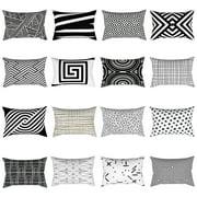 Zeus Simple Geometry Pillow Cover Cushion Throw Case Pillowcase Home Room Sofa Decor