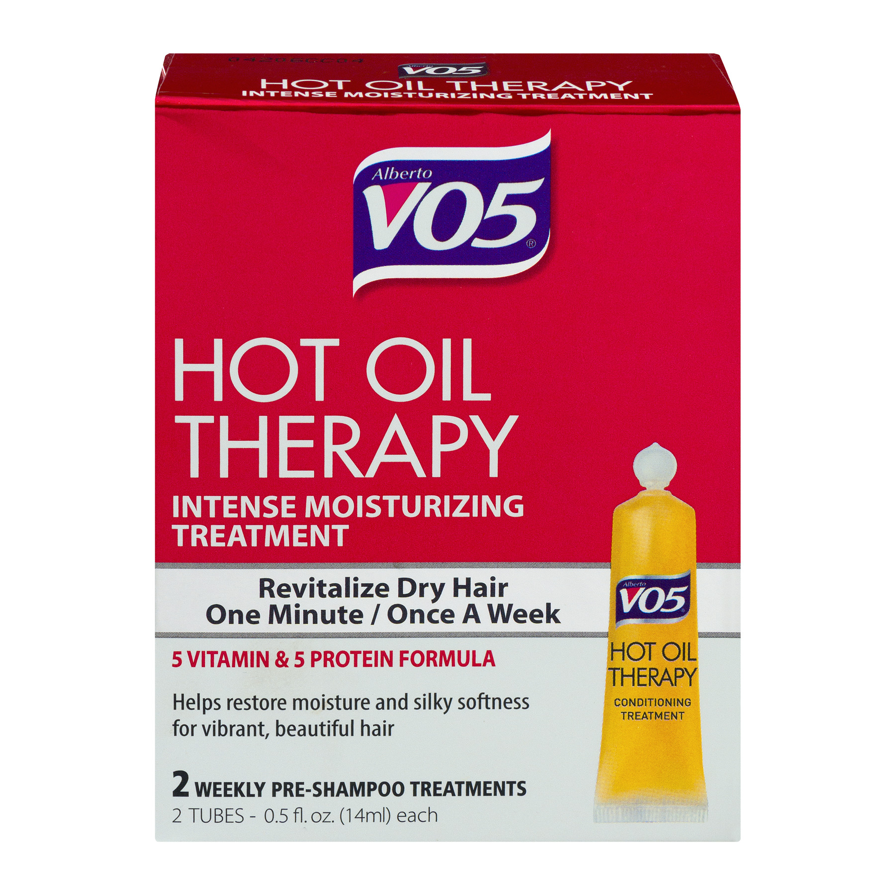 Alberto VO5 Hot Oil Therapy Conditioning Treatment 2-0.5 Fl Oz Tubes