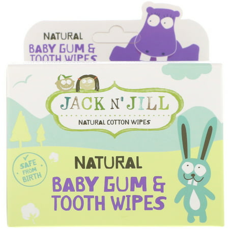 Jack n  Jill  Natural Baby Gum   Tooth Wipes  25 Individually Wrapped Wipes](Baby Jack)