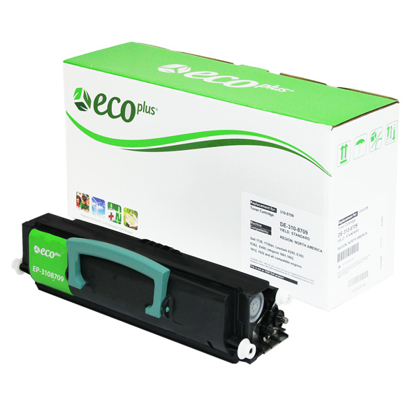 ECOPlus ™ Remanufactured Toner Cartridge for Dell, IBM, Lexmark 3108709, E450A11A (Premium Quality TONER CTG, BLACK, 6K HIGH YIELD)