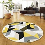 Spptty Non-slip Round Mat Sitting Pad Area Rugs Washable Rug Rotray  Chair Mat