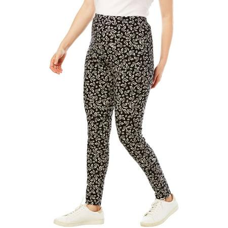 f47d9921354 Woman Within - Plus Size Stretch Cotton Printed Legging - Walmart.com