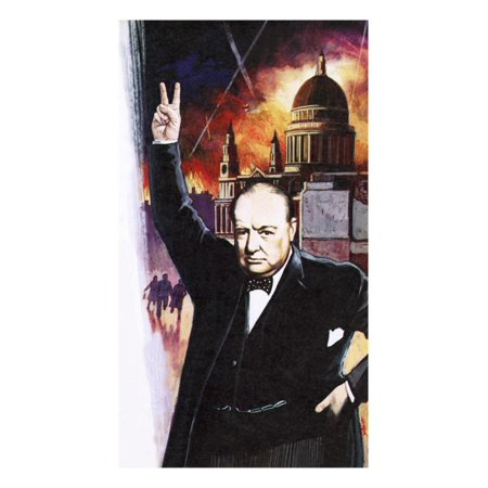 Winston Churchill During the Blitz Print Wall Art By English School