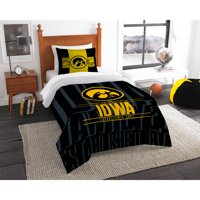 "NCAA Iowa Hawkeyes ""Modern Take"" Bedding Comforter Set"