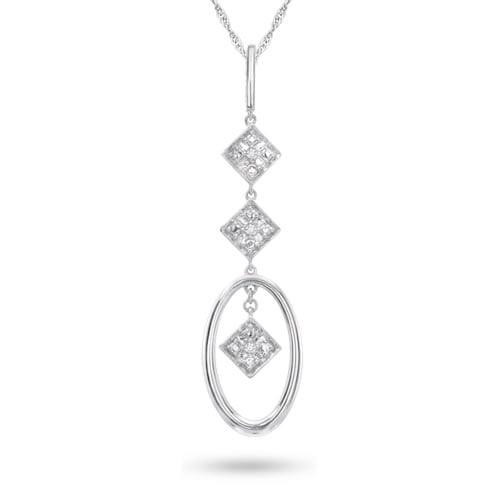 Sterling Silver, Diamond Accent Fashion Pendant