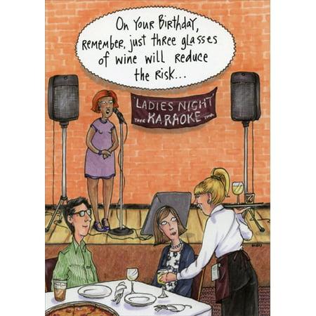 Oatmeal Studios Ladies Night Karaoke Feminine Funny / Humorous Birthday Card for Her