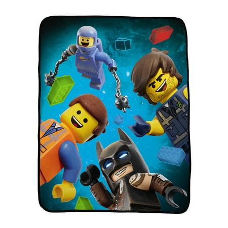 The LEGO Movie 2 Kids Throw, Silky Soft, 40 x 50, LEGO Friends - Lego Decor
