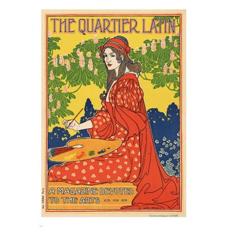 French Vintage Ad Poster 1895 The Quartier Latin Magazine 24X36