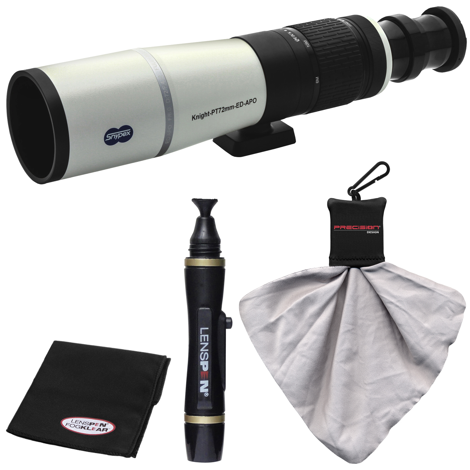 Snypex Knight PT 72mm ED APO Photography Digi-Scope with Hard Case with LensPen + 2 Cleaning Cloths