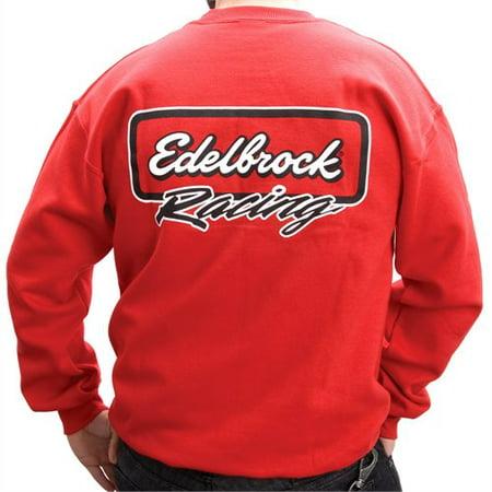 Edelbrock 9860 RED RACING SWEATSHIRT (Edelbrock Racing)