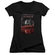 Amityville Horror Cold Blood Juniors V-Neck Shirt