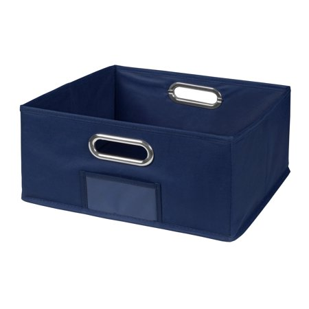 Collapsible Home Storage Foldable Fabric Low Storage Bin- - Royal Blue Collapsible