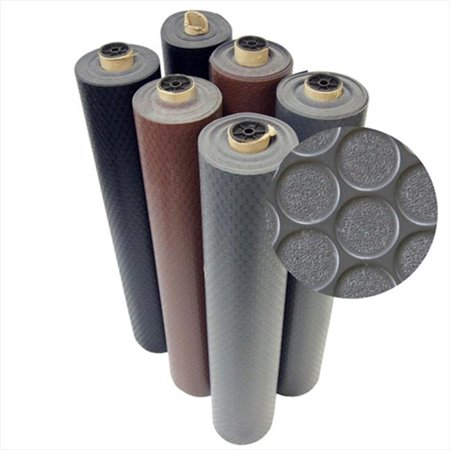 Rubber-Cal Coin-Grip Anti-Slip Rolled Rubber Mat - Dark Gray, 144 x 48 in. - image 1 de 1