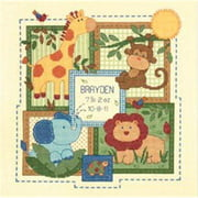 "Dimensions Baby Hugs ""Savannah"" Birth Record Counted Cross Stitch Kit, 14ct, 12"" x 12"""