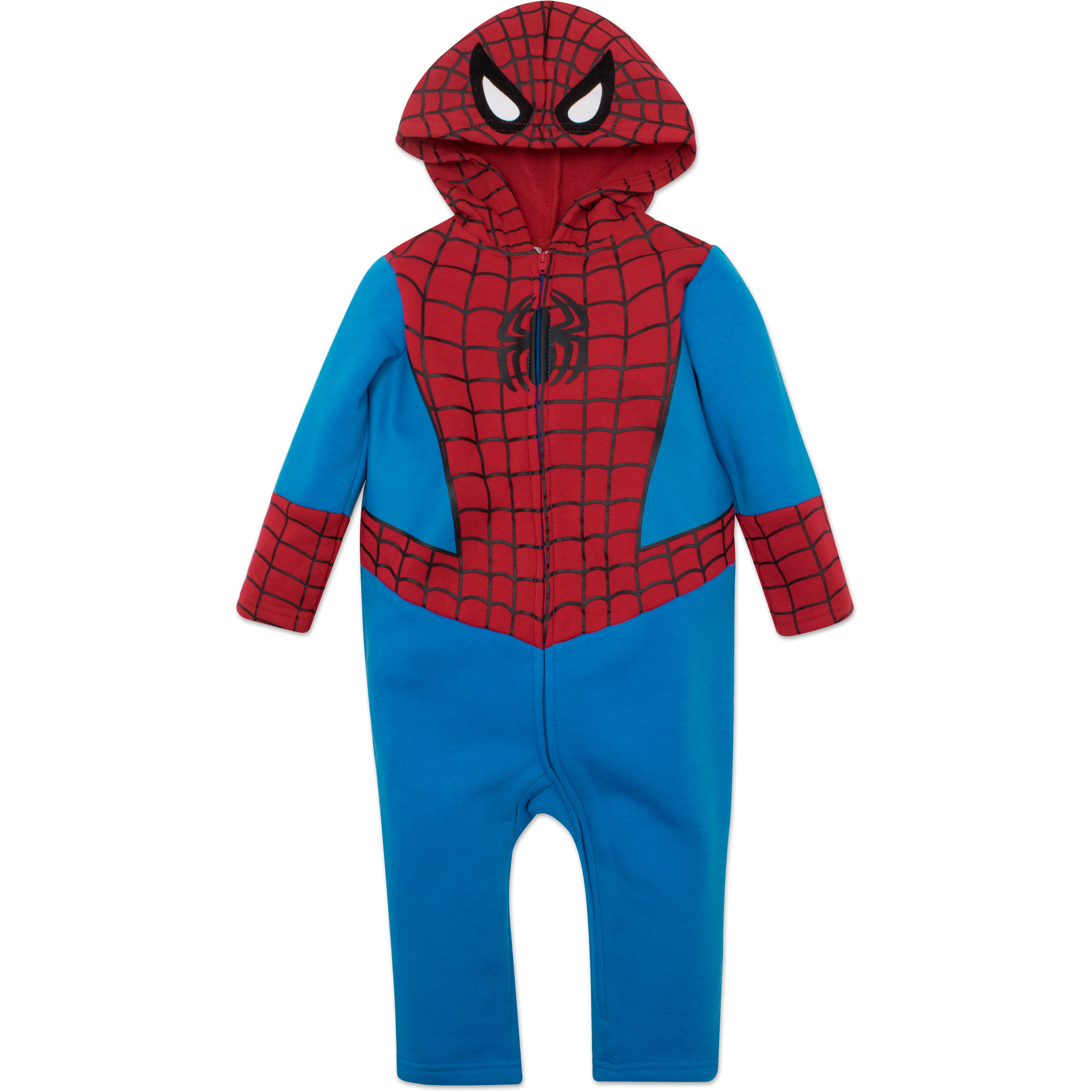 Marvel Spiderman Toddler Costume Coverall with Hood by